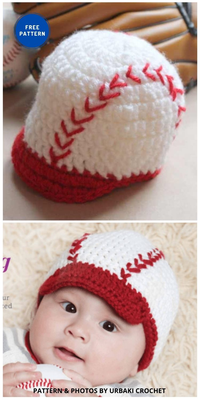 Baseball Crocheted Training Cap - 5 Crochet Baseball Game Outfits For The Baseball Season