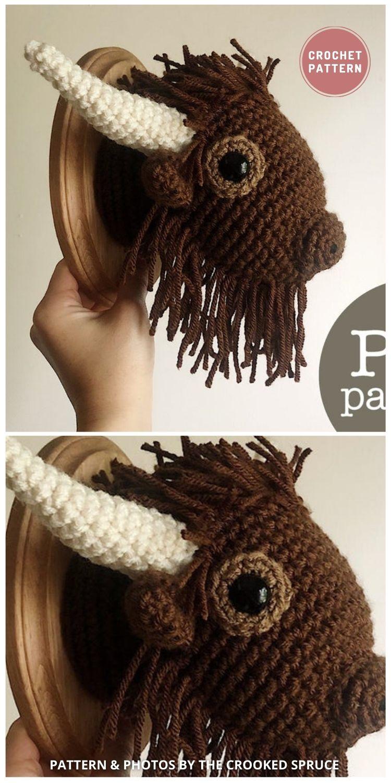 Buffalo Taxidermy - Top 6 Crochet Trophy Head Patterns