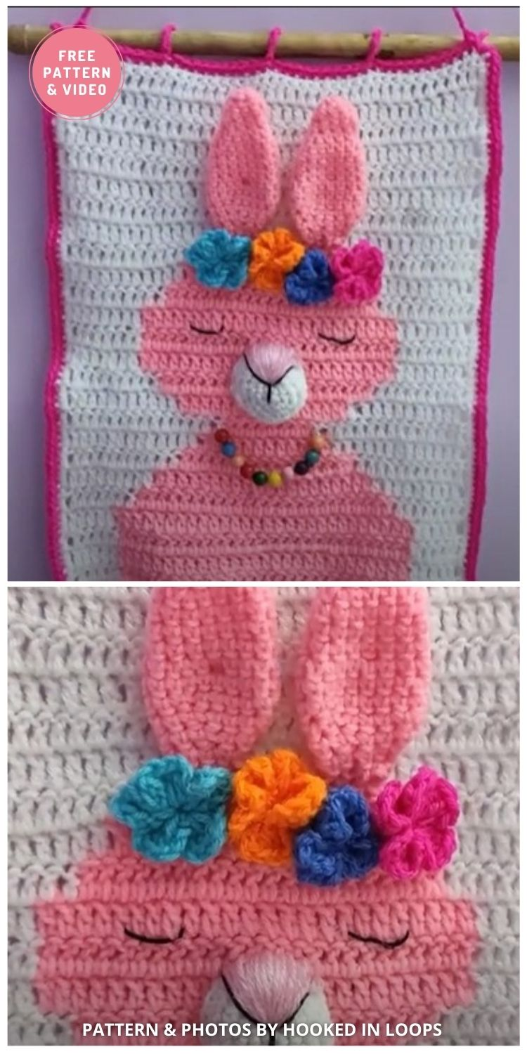 Bunny Wall Hanging - 9 Cutest Free Crochet Animal Wall Hangings For The Nursery