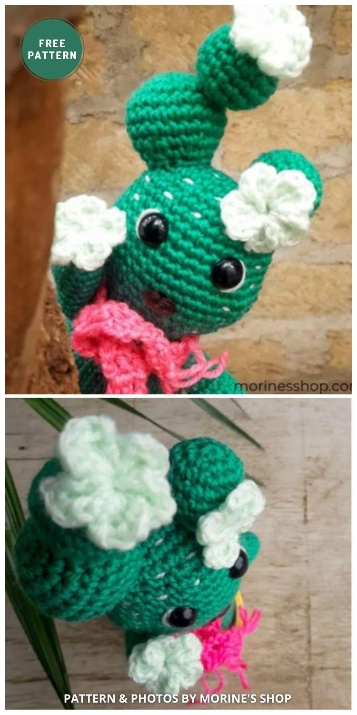 Cactivae The Cactus - 10 Free Amigurumi Cactus Crochet Patterns To Decorate Your Home
