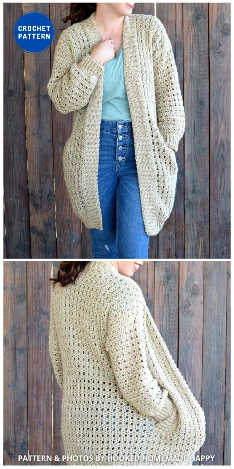 Cafe au Lait Cardigan - 10 Chic Crochet Lacy Cardigans For The Summer