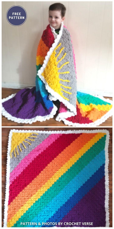 Calming Blanket - 6 Free Crochet Weighted Blanket Patterns For Better Sleep