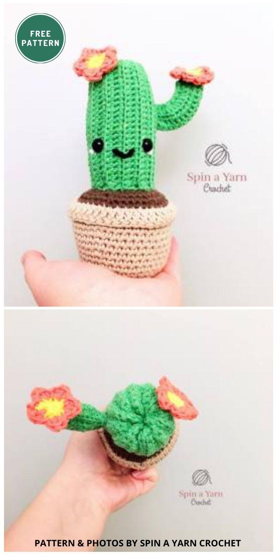 Camilla Cactus - 10 Free Amigurumi Cactus Crochet Patterns To Decorate Your Home