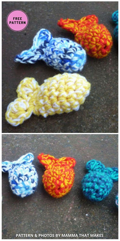 Catnip Catfish - 7 Cute Free Crochet Toy For Cats