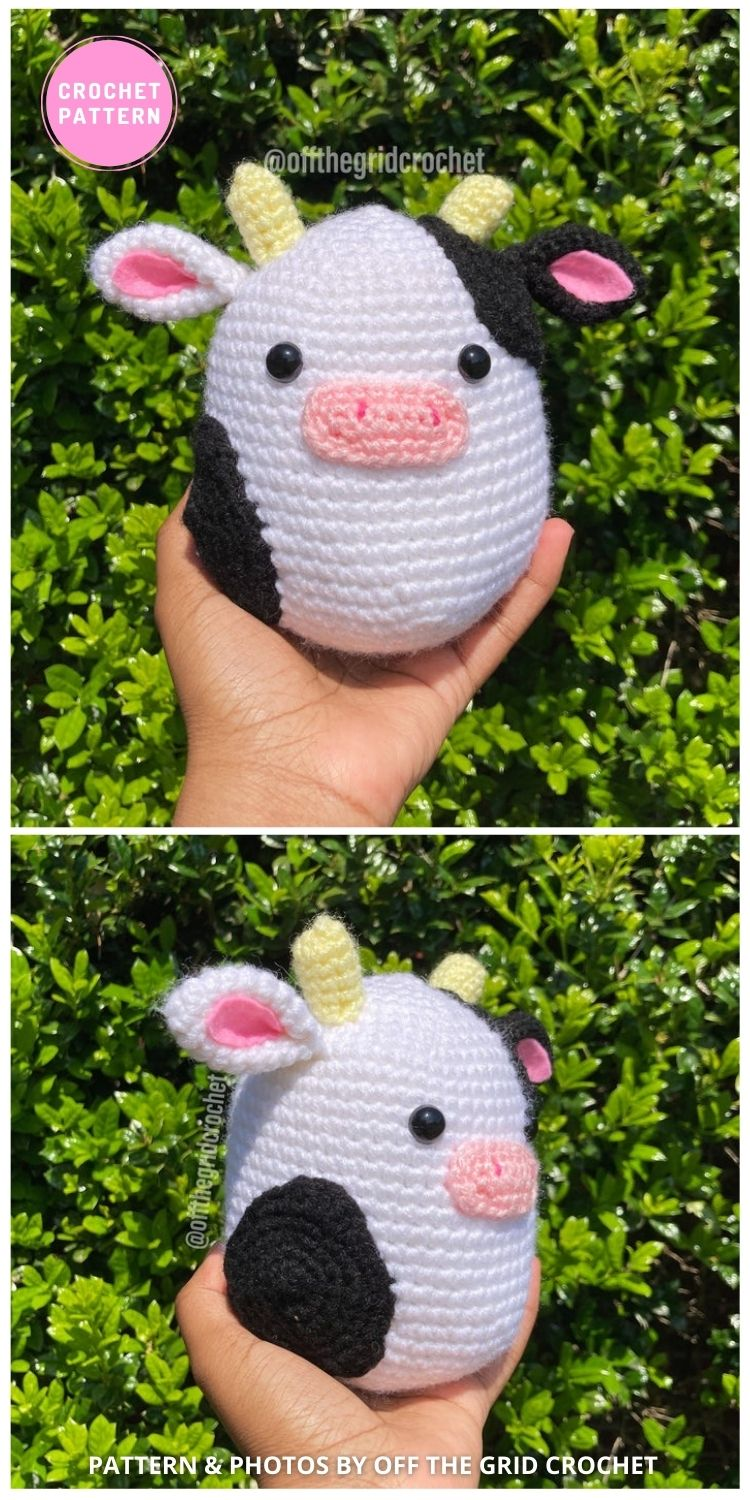 Conner the Cow - 6 Adorable Strawberry Cow Toy Crochet Ideas For Your Child