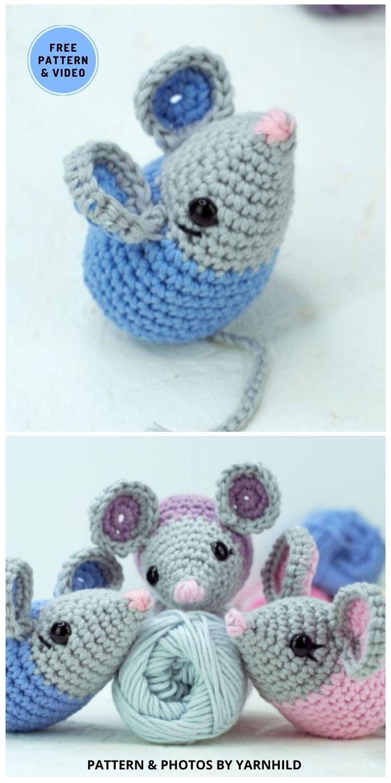 Crochet Amigurumi Mouse - 9 Perfect Crochet Rat Toy Ideas For Kids & Pets