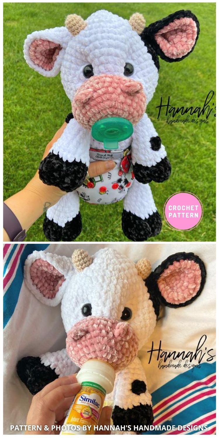 Crochet Baby Cow - 6 Adorable Strawberry Cow Toy Crochet Ideas For Your Child