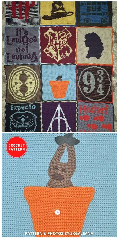 Crochet Blanket Inspired by Harry Potter - 5 Magical Harry Potter Blanket Crochet Ideas