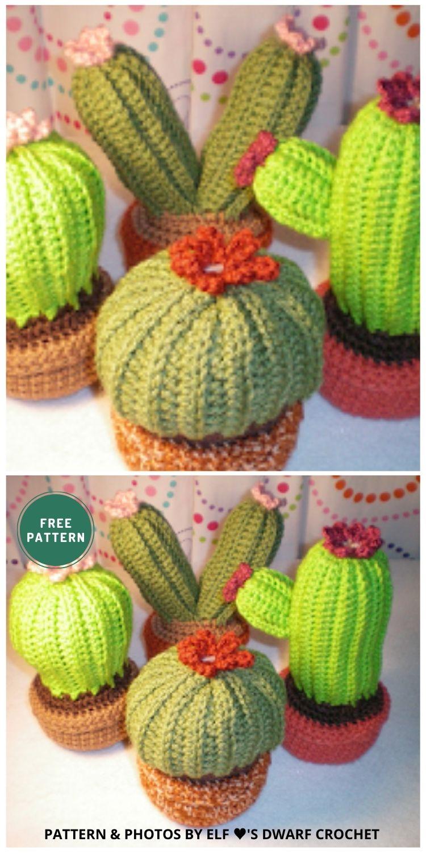 Crochet Cactus Garden - 10 Free Amigurumi Cactus Crochet Patterns To Decorate Your Home