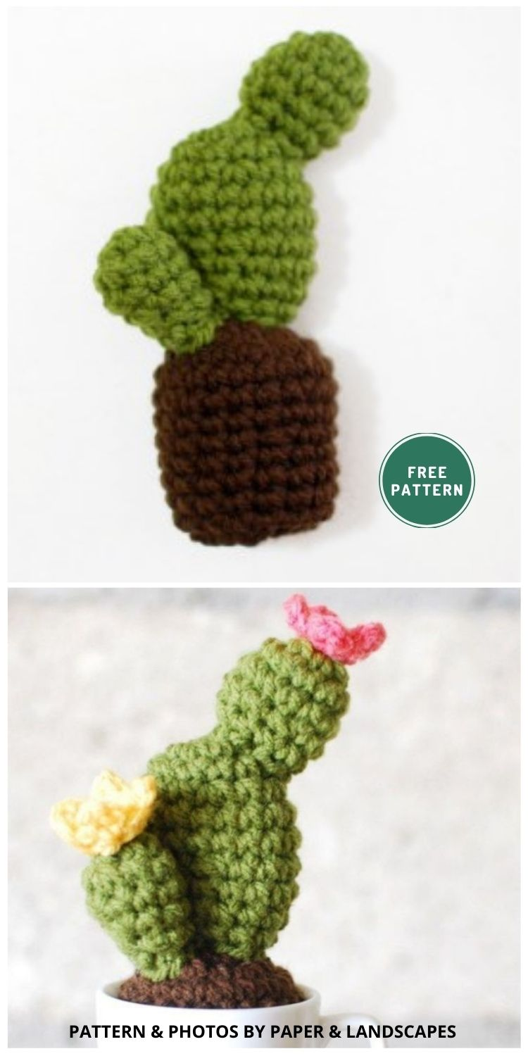 Crochet Cactus in a Cup - 10 Free Amigurumi Cactus Crochet Patterns To Decorate Your Home