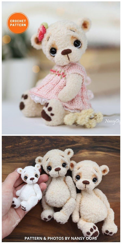 Crochet Cookie Bear - 8 Realistic Crochet Animal Patterns