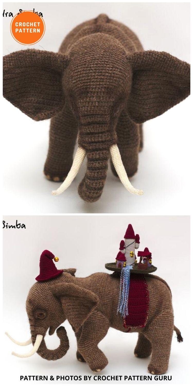 Crochet Elephant - 8 Realistic Crochet Animal Patterns