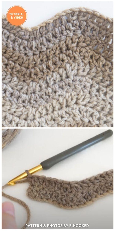 Crochet Ripple Stitch - 9 Beautiful Crochet Wave Stitch Patterns