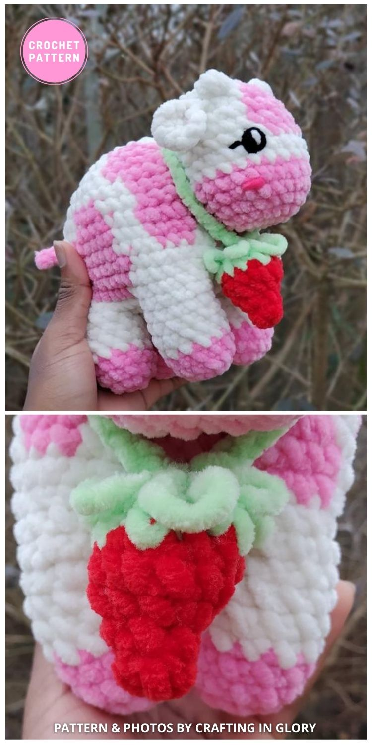 Crochet Strawberry Cow - 6 Adorable Strawberry Cow Toy Crochet Ideas For Your Child
