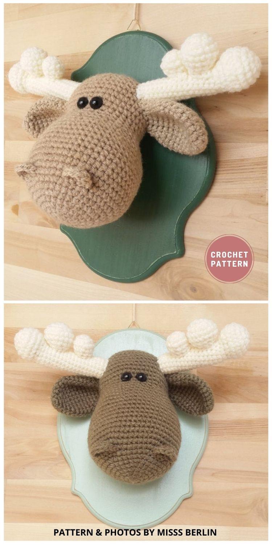Crochet Taxidermy Head Trophy - Top 6 Crochet Trophy Head Patterns
