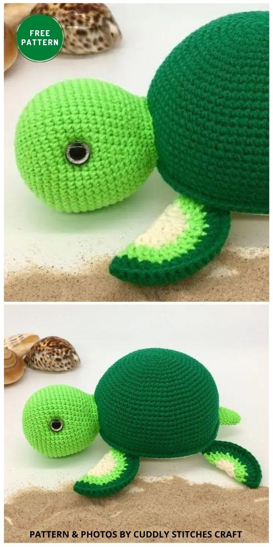 Crochet Turtle - 12 Fun & Awesome Amigurumi Turtle Crochet Patterns
