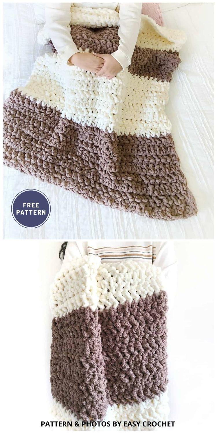 Crochet Weighted Blanket - 6 Free Crochet Weighted Blanket Patterns For Better Sleep