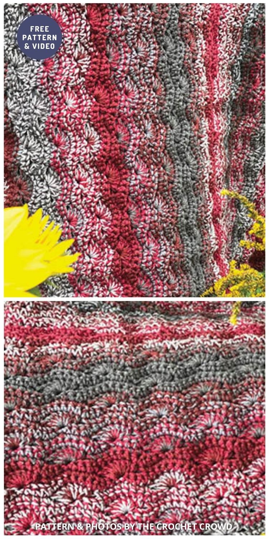 Crochet Weighted Marled Lapghan Blanket - 6 Free Crochet Weighted Blanket Patterns For Better Sleep