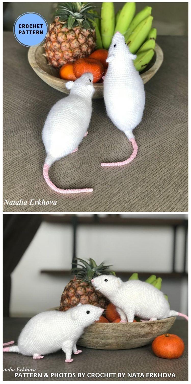 Crochet White Rat - 9 Perfect Crochet Rat Toy Ideas For Kids & Pets