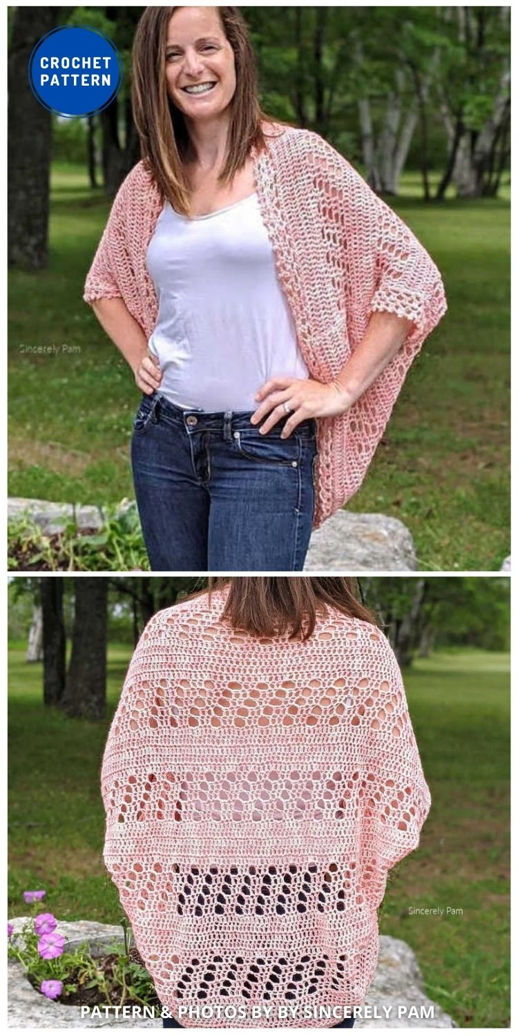 Daphne Cocoon Cardigan - 10 Chic Crochet Lacy Cardigans For The Summer