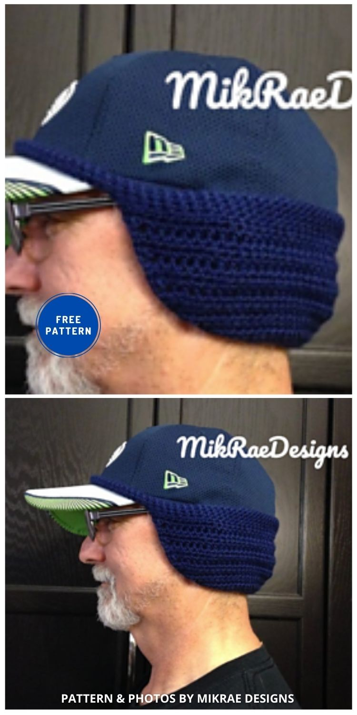 Ear Warmer for Baseball Cap - 5 Crochet Baseball Game Outfits For The Baseball Season