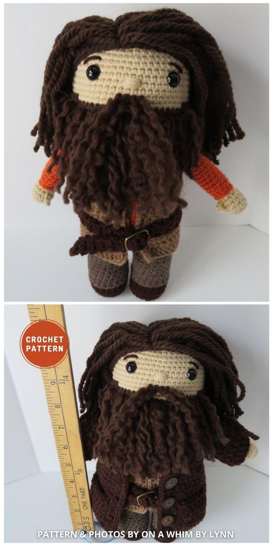 Giant Professor - 9 Best Crochet Amigurumi Harry Potter Toys For Your Kids