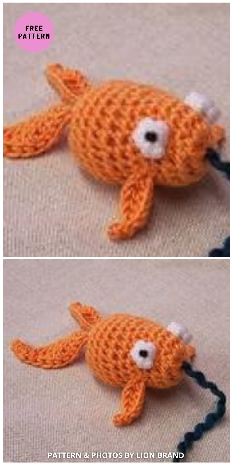 Goldfish Cat Toy - 7 Cute Free Crochet Toy For Cats