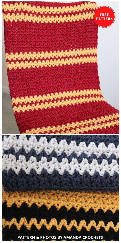 Harry Potter Inspired Blanket - 5 Magical Harry Potter Blanket Crochet Ideas