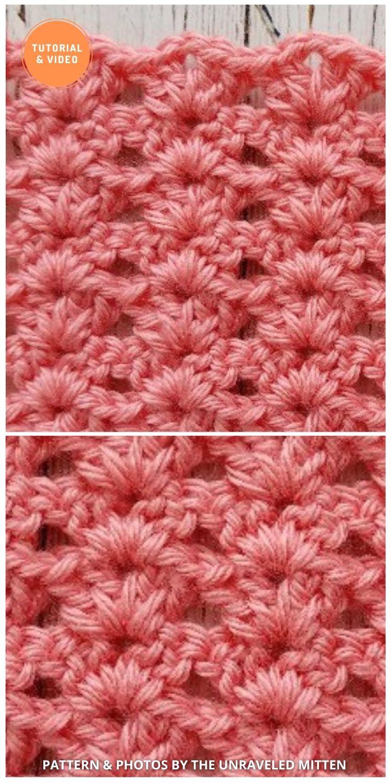 Iris Stitch - 9 Beautiful Crochet Wave Stitch Patterns