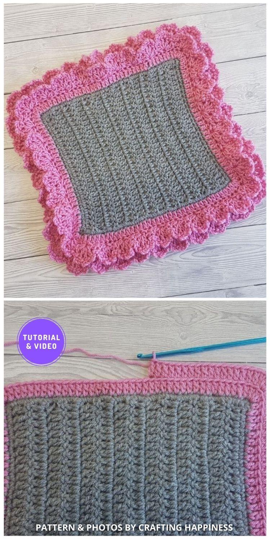Layered Scallops Border - 8 Free Best Lace Border Crochet Tutorials