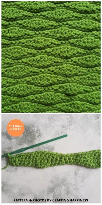 Long Wave Stitch - 9 Beautiful Crochet Wave Stitch Patterns