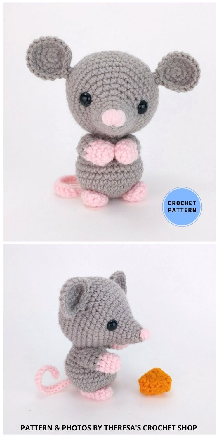 Maxwell The Mouse - 9 Perfect Crochet Rat Toy Ideas For Kids & Pets