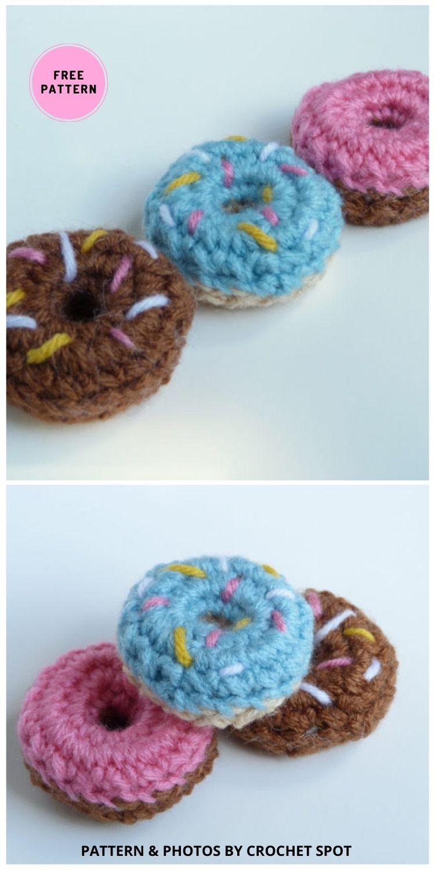Mini Crochet Donuts - 7 Free Sweet & Delicious Amigurumi Donut Crochet Patterns