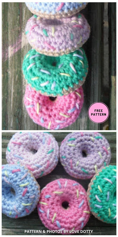 Mini Donuts - 7 Free Sweet & Delicious Amigurumi Donut Crochet Patterns