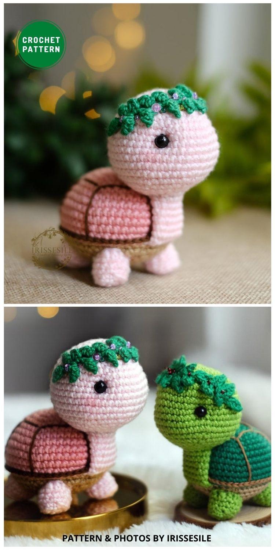 Myrtle the Turtle - 12 Fun & Awesome Amigurumi Turtle Crochet Patterns