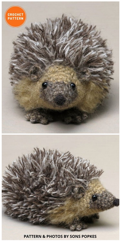 Realistic Crochet Hedgehog - 8 Realistic Crochet Animal Patterns