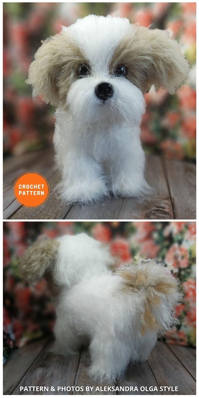 Realistic Crochet Pattern Shih Tzu - 8 Realistic Crochet Animal Patterns