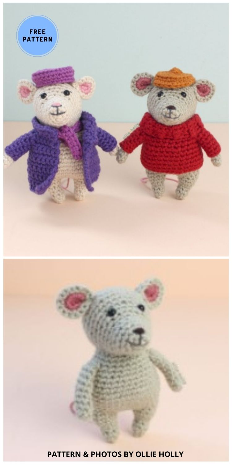 Rescuers Inspired Mouse - 9 Perfect Crochet Rat Toy Ideas For Kids & Pets
