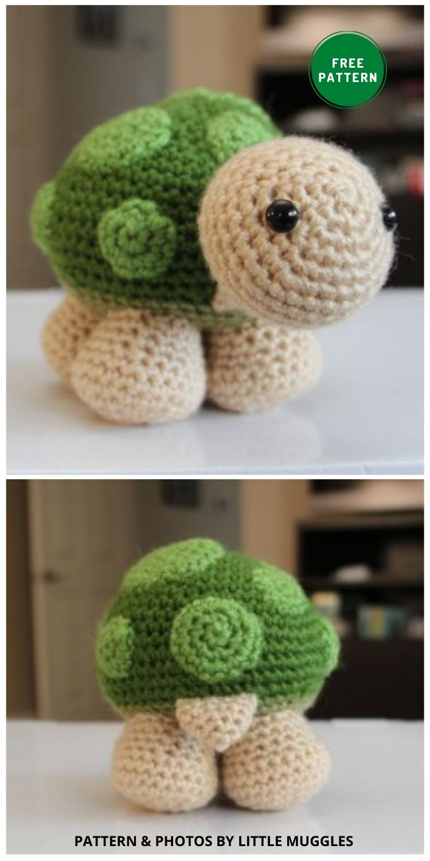 Sheldon - 12 Fun & Awesome Amigurumi Turtle Crochet Patterns
