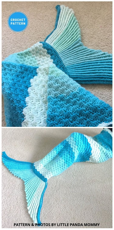 Sophie Mermaid Tail Blanket - 12 Crochet Mermaid Tail Blanket Patterns For Kids & Adults