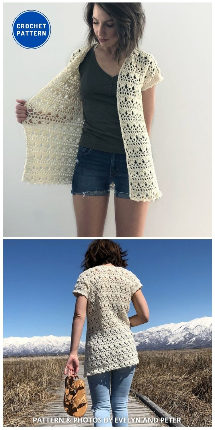 The Sandpiper Cardigan - 10 Chic Crochet Lacy Cardigans For The Summer