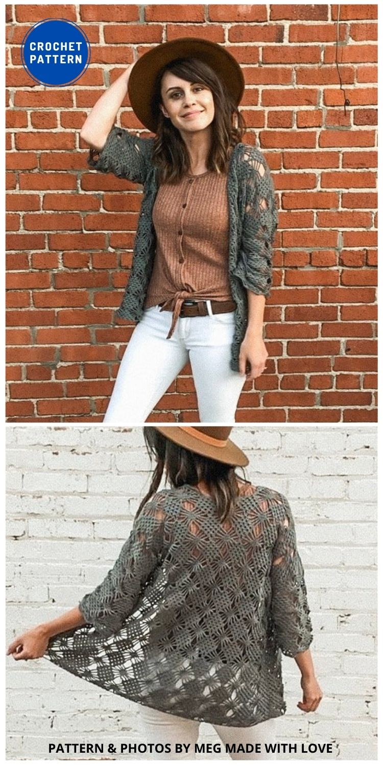 The Webwork Cardigan - 10 Chic Crochet Lacy Cardigans For The Summer