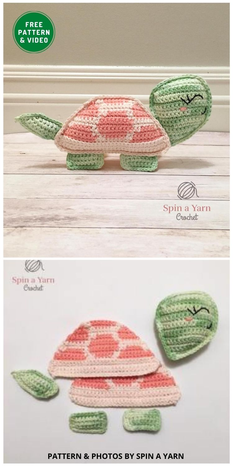 Tilly the Tortoise - 12 Fun & Awesome Amigurumi Turtle Crochet Patterns
