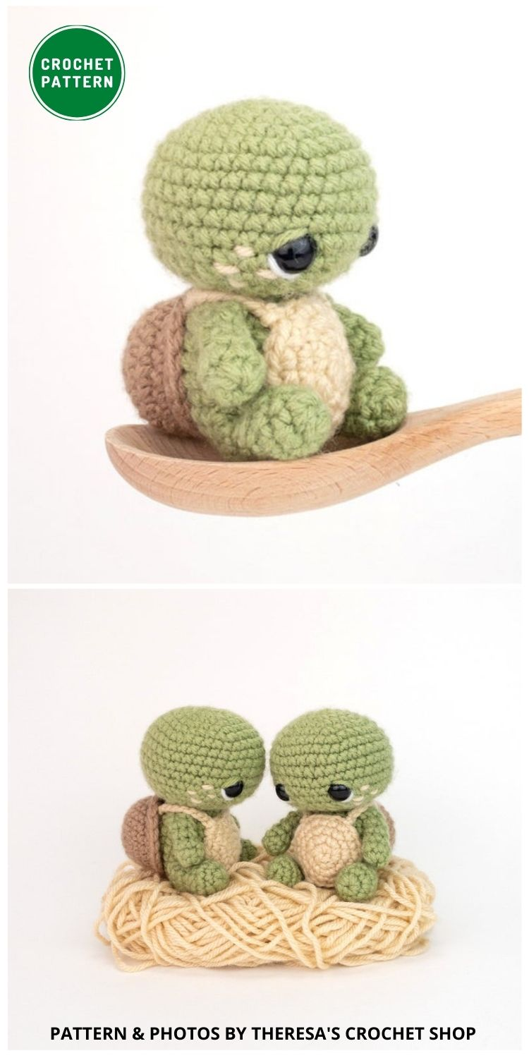 Timmy The Tiny Turtle - 12 Fun & Awesome Amigurumi Turtle Crochet Patterns