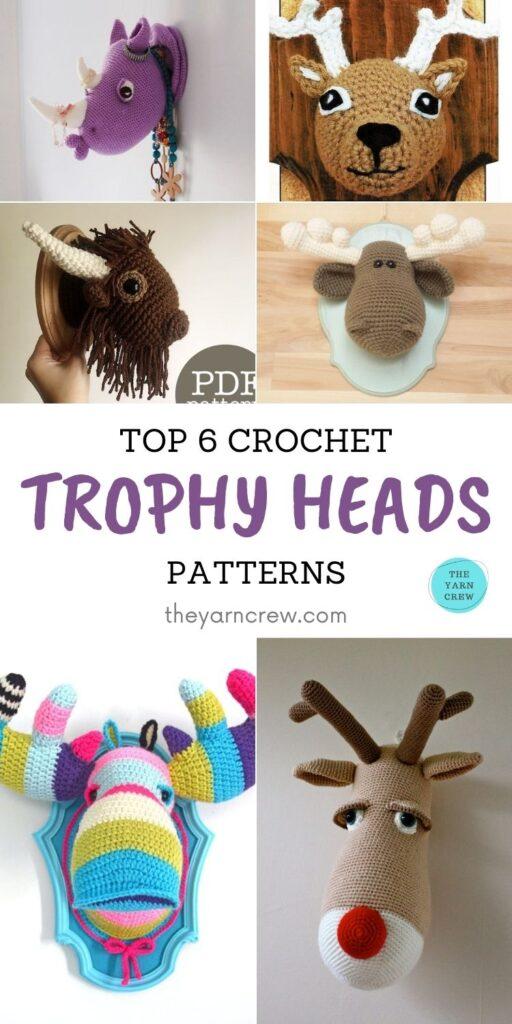 Top 6 Crochet Trophy Head Patterns PIN 1