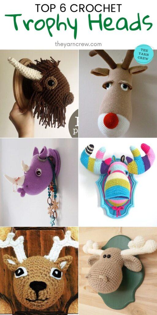 Top 6 Crochet Trophy Heads PIN 2