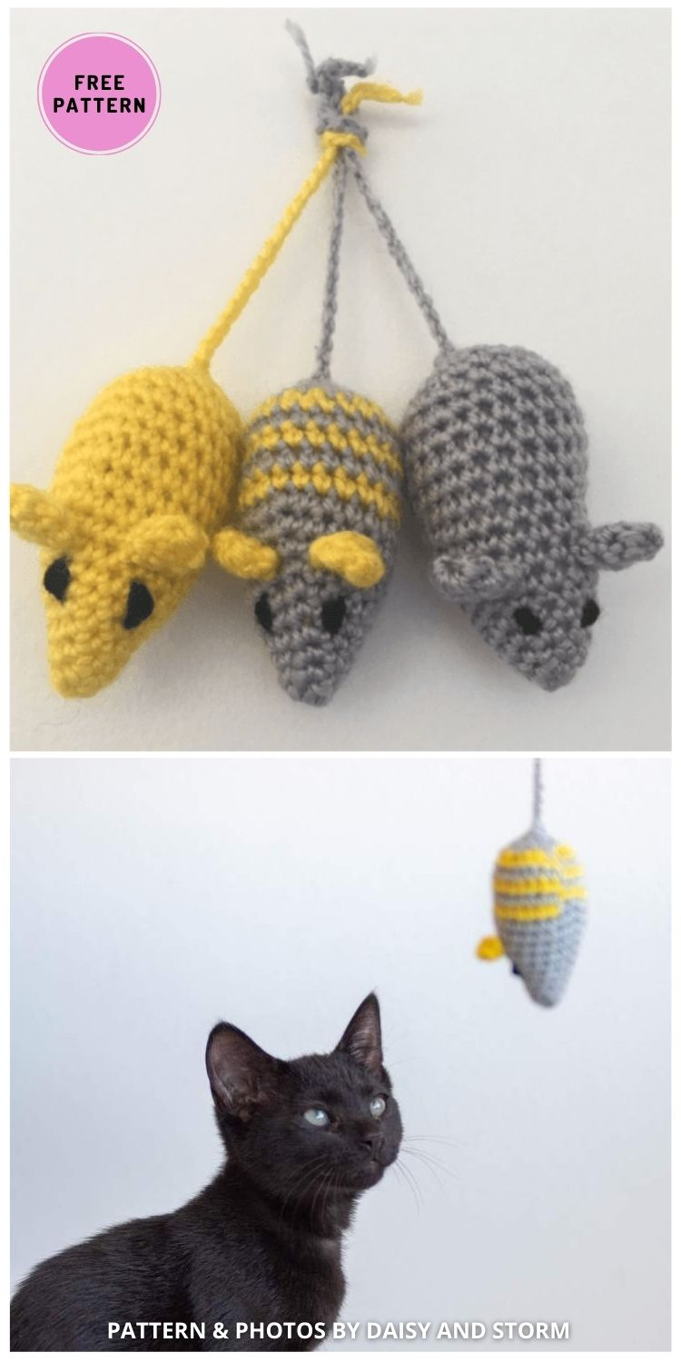 Toy Mouse for Cats - 7 Cute Free Crochet Toy For Cats