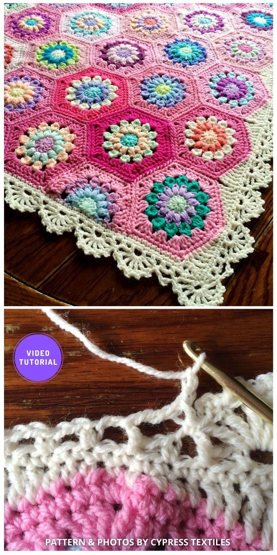 Treble Scallop Edging - 8 Free Best Lace Border Crochet Tutorials
