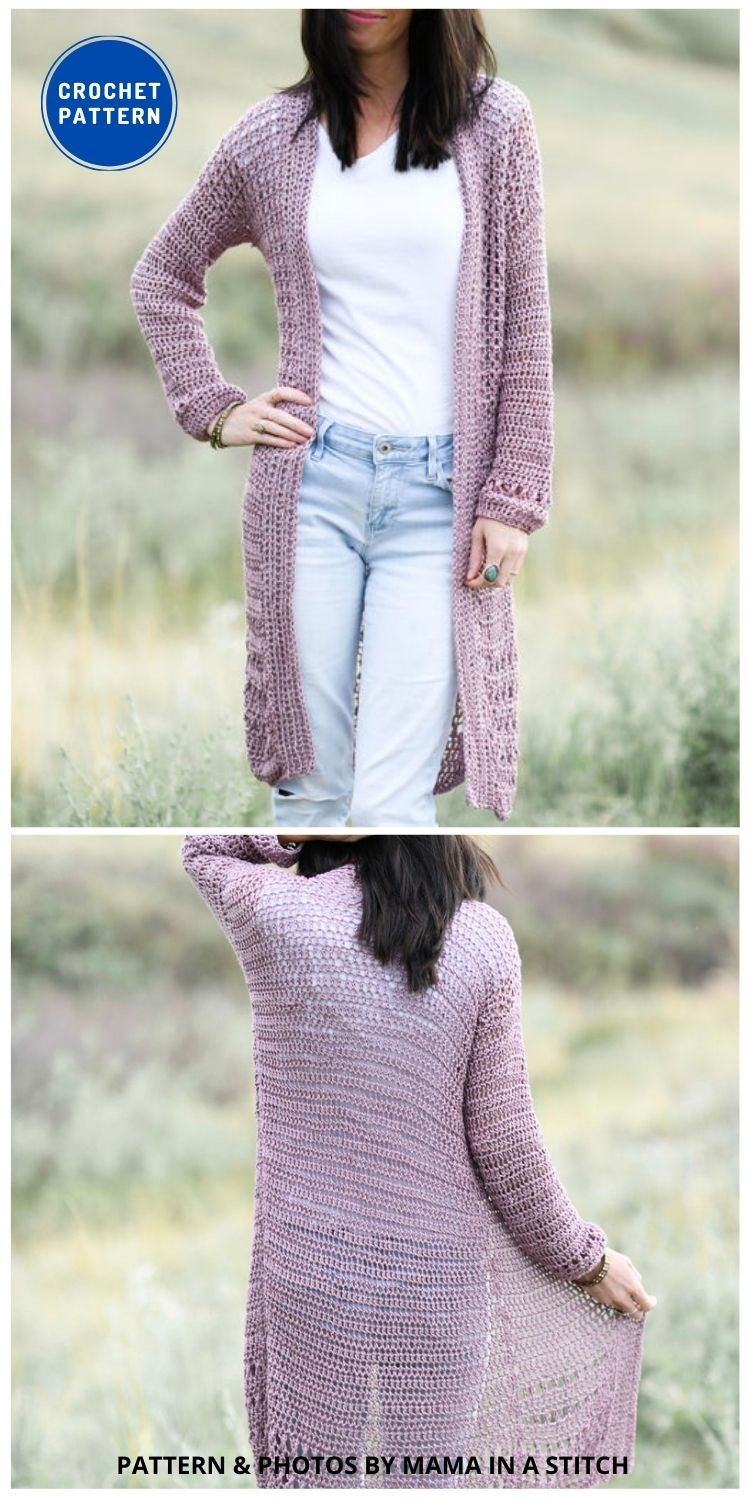 Verano Longline Cardigan - 10 Chic Crochet Lacy Cardigans For The Summer