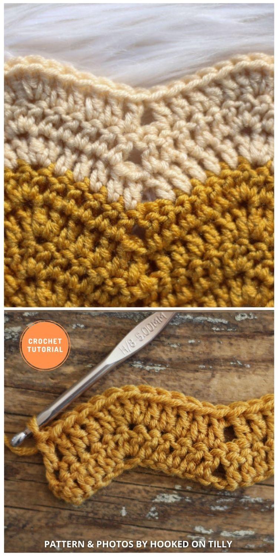 Wave Stitch - 9 Beautiful Crochet Wave Stitch Patterns (1)